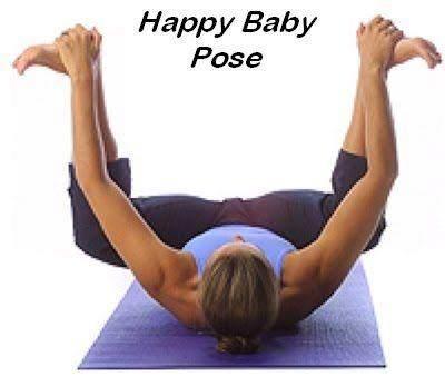 8. Happy Baby Pose (Ananda Balasana)