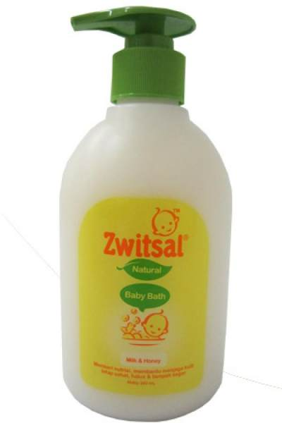 3. Zwitsal Natural Baby Bath Milk and Honey