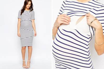 Minimalis Stripes Nursing Dress