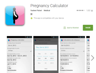 3) Pregnancy Calculator