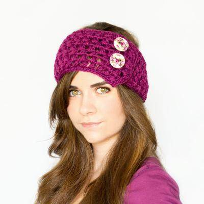 4. Puff Stitch Ear Warmer Crochet Pattern