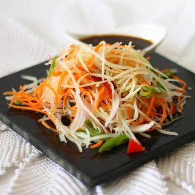 2. Green Papaya Salad / Kappalanga (Omakka) Salad