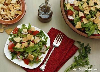 4. Fattoush Lebanese Peasant Salad