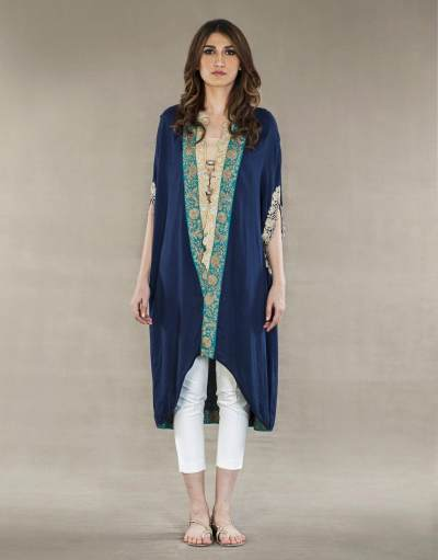 Kaftan with Slit Cape