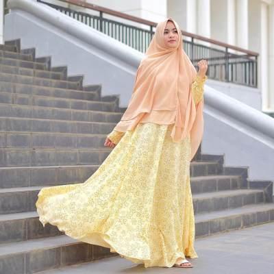 Gamis Syar'i Warna Kuning