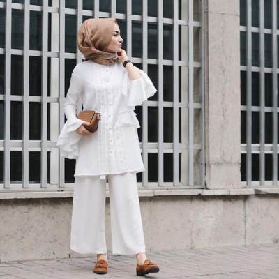 Ruffles Detail Tunic with Culotte for Casual Look!
