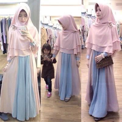 Anggun dengan Model Hijab Syar'i Instan