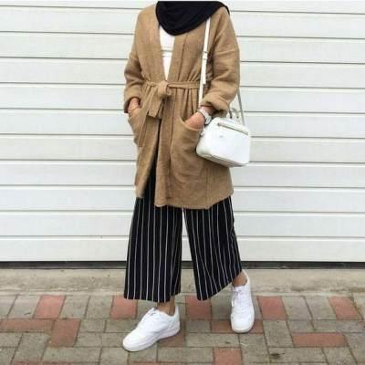 Padu Padan Kulot dan Outer Kimono