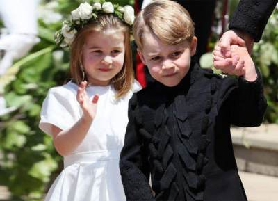 Cutest Part of Royal Wedding! Gemasnya Fashion Style Prince George dan Princess Charlotte