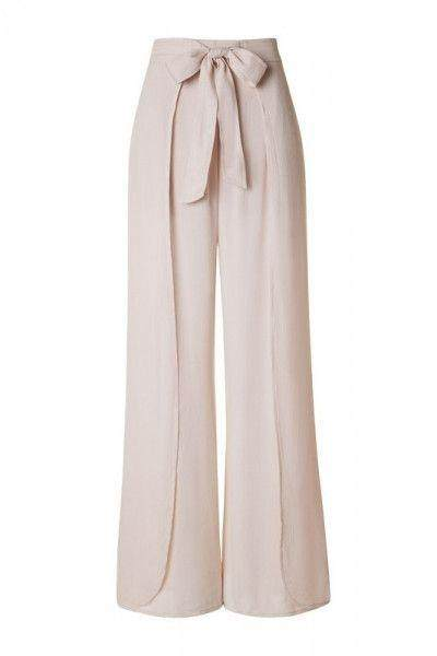 Bow-Detailed Pants