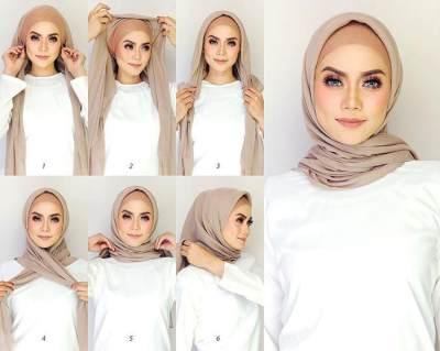 Ssst! Ini Dia Rahasia Style Hijab Agar Terlihat Tirus! Cobain Yuk Moms!