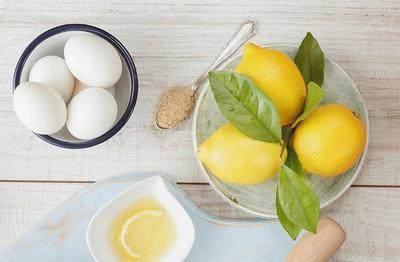 Putih telur dan lemon