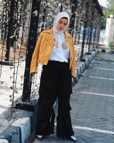 Yellow Jacket + Layered Pants