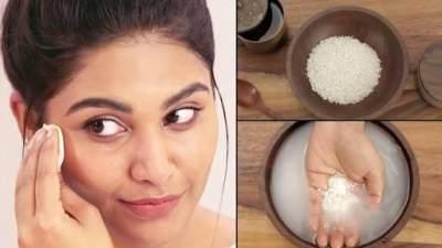 3. Air beras untuk kecantikan kulit wajah