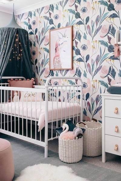 5 Inspirasi Kamar Bayi Perempuan dengan Nuansa Floral Vintage