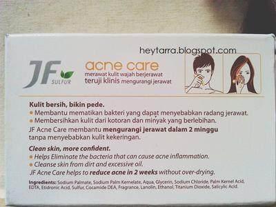 JF Sulfur Acne Care, Solusi Menghilangkan Jerawat Sehari-hari