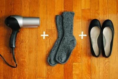 Sepatu Kulit akan Meregang dengan Hair Dryer