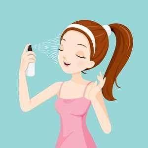 Cuci Muka dan Pakai Facial Water Spray
