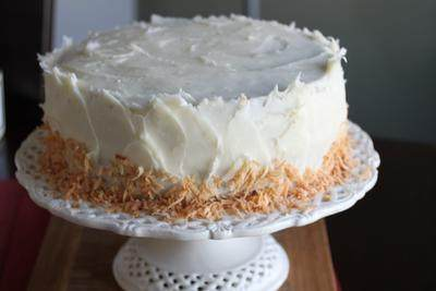 5. Coconut Pineapple Carrot Cake with Cream Cheese Frosting