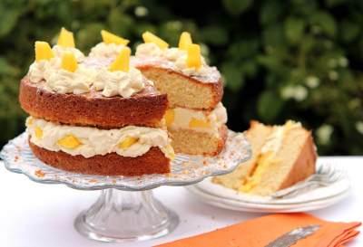 1. Mango Cream Cake