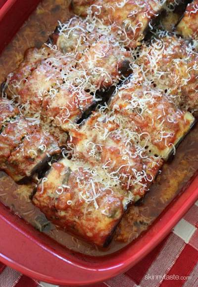 1. Skinny Eggplant Rollatini with Spinach