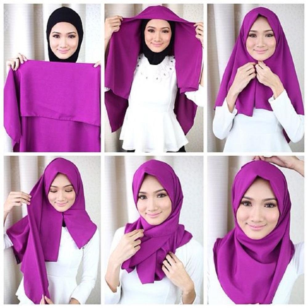 Cuma Punya Hijab Segiempat Bisa Dibuat Seperti Pasmina Lho Begini Tutorialnya