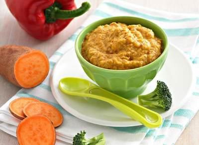Bubur 3 Warna  (Resep Makanan Pendamping ASI Usia 7 Bulan)