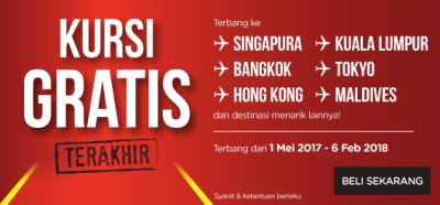 4. Kursi Gratis Airasia 2018