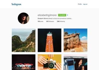 Tampilan Instagram Web