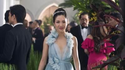 Gaun Biru Rachel Chu