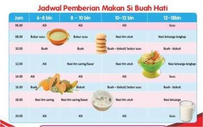 Seperti Apa Sih Jadwal Makan Yang Tepat Untuk Bayi 6 Bulan Cek Di Sini Deh Moms