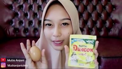 Masker Putih Telur dan Susu Dancow