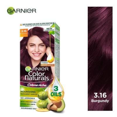 Garnier Color Naturals Creme Riche 3.16 - Merah Burgundy