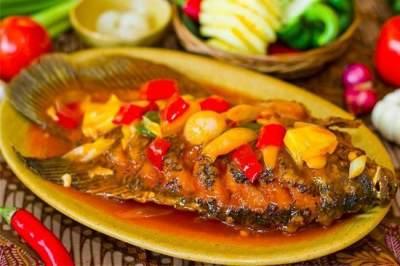 Ikan Nila Asam Manis Nanas