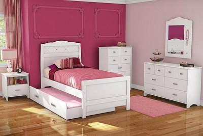 Tempat Tidur Sorong Anak Perempuan