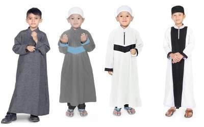 3. Setelan Baju Koko Anak Celana Sarung