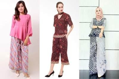1. Setelan Kulot Batik