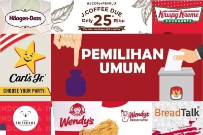 Daftar 30 Tempat Makan dengan Promo Spesial Pemilu 2019, Jangan Golput Moms!