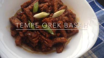 Resep Tempe Orek Basah