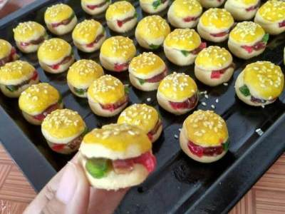 Kue Nastar Bentuk Burger
