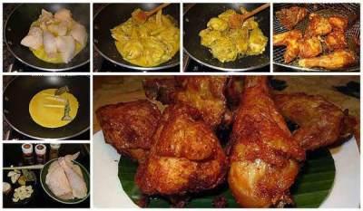 Cara Memasak Ayam Goreng Bumbu Kuning