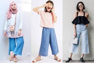 Persiapan Lebaran Sejak Dini! Ini 5 Model Celana Kulot Jeans Denim yang Lagi Nge-Hits