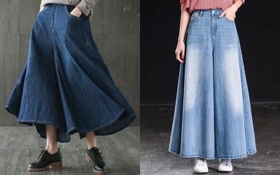2. Celana Kulot Jeans Zoya
