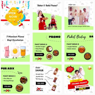 Rekomendasi Olshop Makanan Rumahan Selebriti untuk Sahur dan Berbuka Puasa