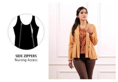 Model Baju Menyusui Side Zipper