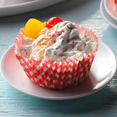 Creamy Frozen Fruit Cups Recipe