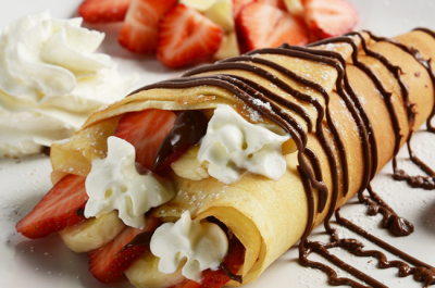 Crepes Strawberry Coklat