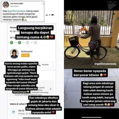 Sempat Dilaporkan, Kisah Mitra GoLife 'Sepedaan' Ini Bikin Haru dan Viral di Media Sosial