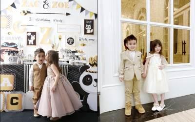 11 Potret Zac &  Zoe, Anak kembar Jonathan Frizzy yang Stylish Abis Juga Menggemaskan