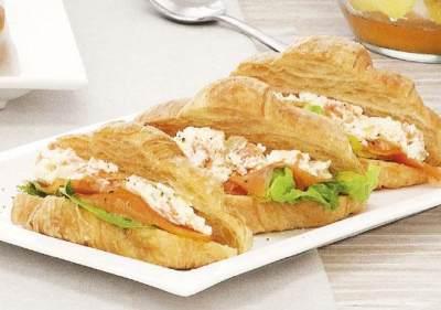 Croissant Salmon Sandwich